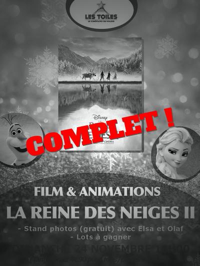 "FILM + ANIMATIONS: ""LA REINE DES NEIGES II"""